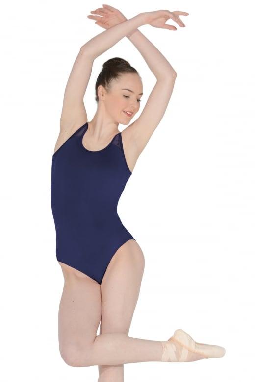 Mirella Ärmelloser Tanztrikot mit Netzdetail