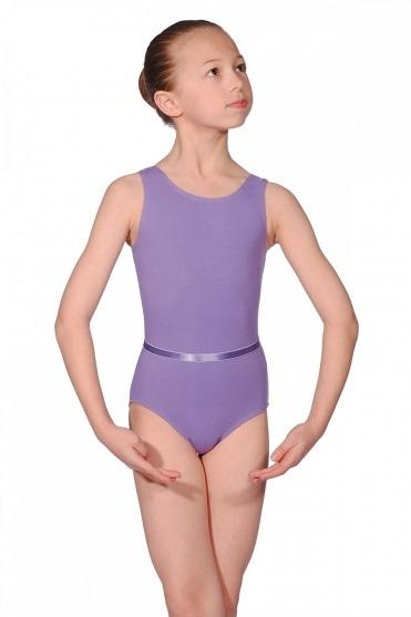 Ärmelloses Ballett Prüfungtrikot aus Baumwolle