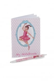 Ballerina Notizbuch und Stift