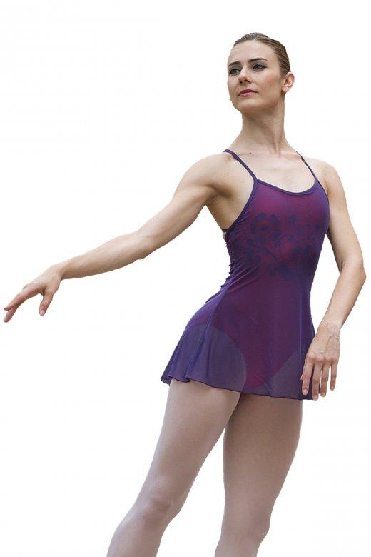 Ballet Rosa Madelene ärmelloses Damentrikot mit Tüllschicht