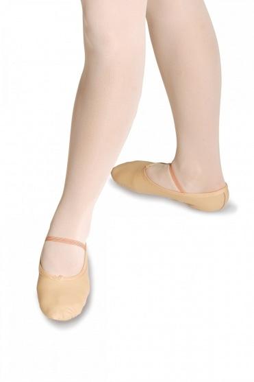 Ballettschläppchen aus Leder - Breite Passform