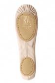 Roch Valley Ballettschläppchen aus Leinen mit geteilter Sohle - normaler Passform