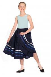 Charakter-Tanzrock mit Bändern
