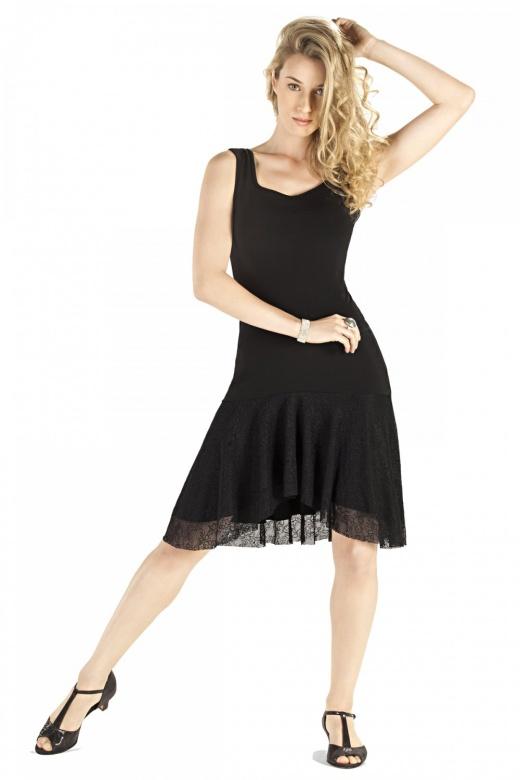 So Danca Damen Turnierkleid mit Spizte