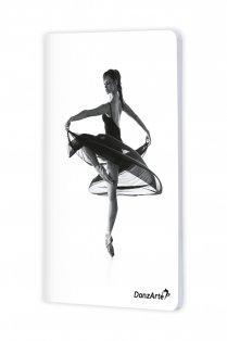 A6 Notebook mit Ballerina auf Spitze