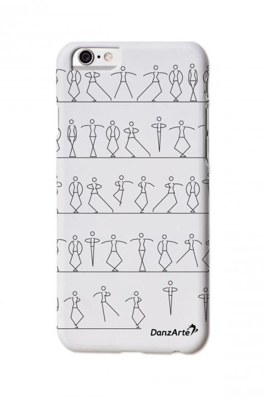 Danzarte iPhone 6 Hülle mit tanzenden Strichmännchen