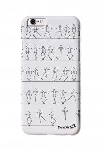 iPhone 6 Hülle mit tanzenden Strichmännchen