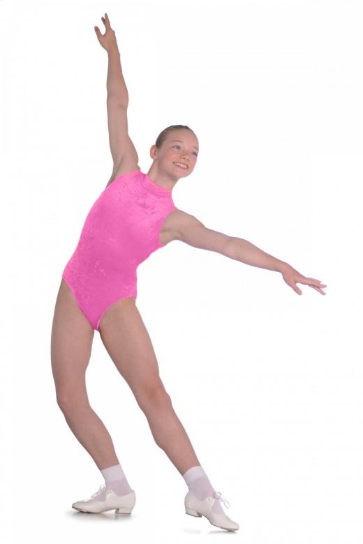 Roch Valley Dee Ärmelloses Ballett Trikot aus Samt