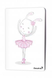 Din A5 Notizbuch mit tanzendem Häschen