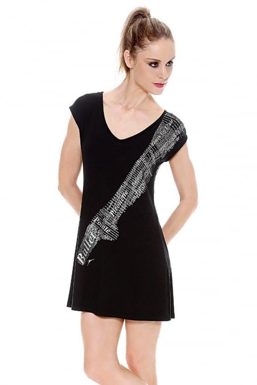 So Danca Kleid mit Spitzenschuh-Aufdruck