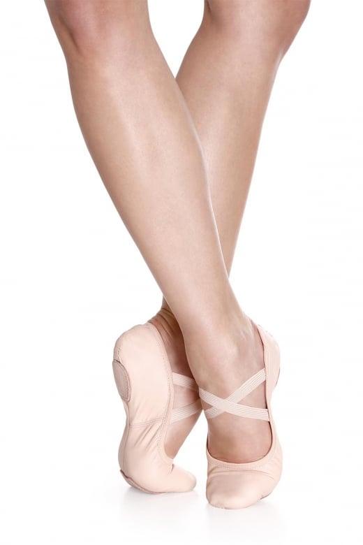 So Danca Leder Ballettschläppchen mit geteilter Sohle