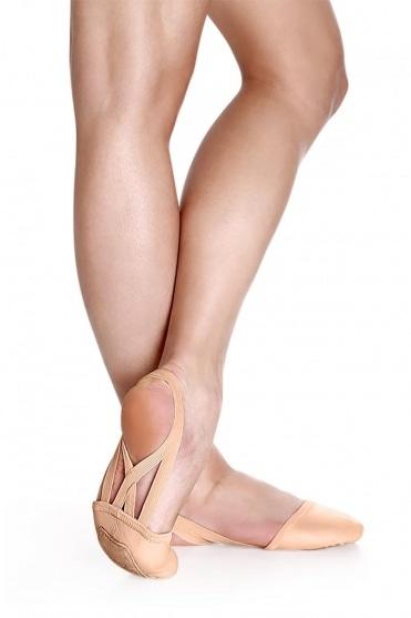 Leder Ballettschuhe mit Halber Sohle