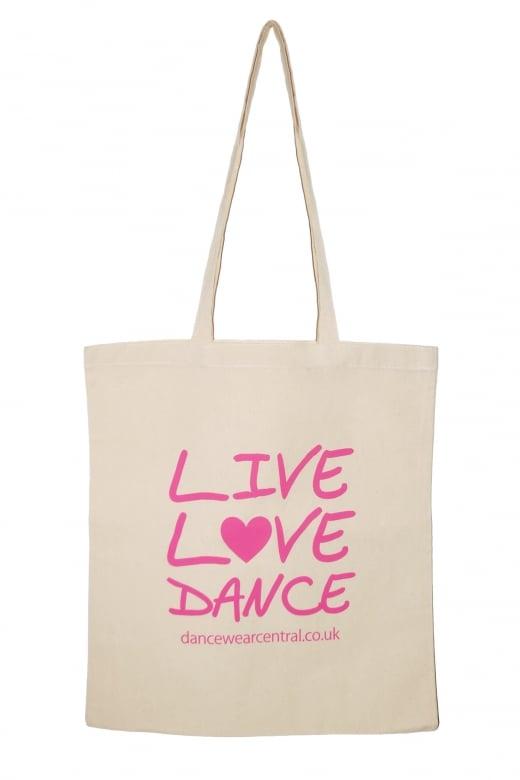 """Dancewear Central """"Live Love Dance"""" Einkaufstasche"""
