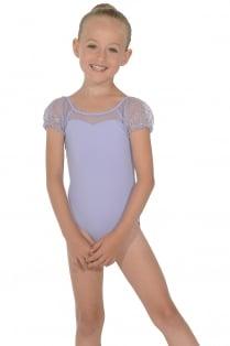 Mädchen Tanztrikot mit Puff-Ärmeln