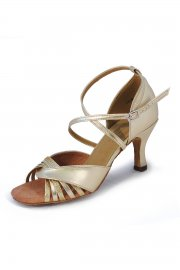 Damen Latein Sandalen in gold