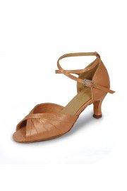 Damen Satin Latein Sandalen mit Kreuzriemchen