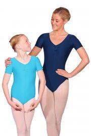 Jeanette kurzärmeliges Ballett Trikot aus Lycra