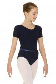 Kurzärmliges Ballett Prüfungtrikot aus Baumwolle
