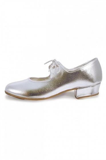Silberne Steppschuhe für Mädchen und Damen