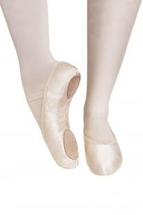 Satin Ballettschläppchen