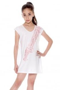 Spitzenschuh Kleid/Langes T-Shirt