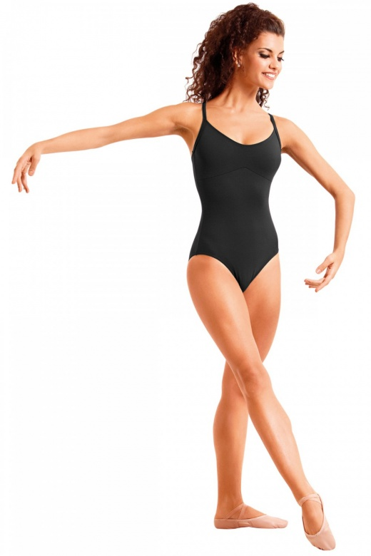 So Danca Tanztrikot mit tiefem Rückenausschnitt und strassverzierten Trägern