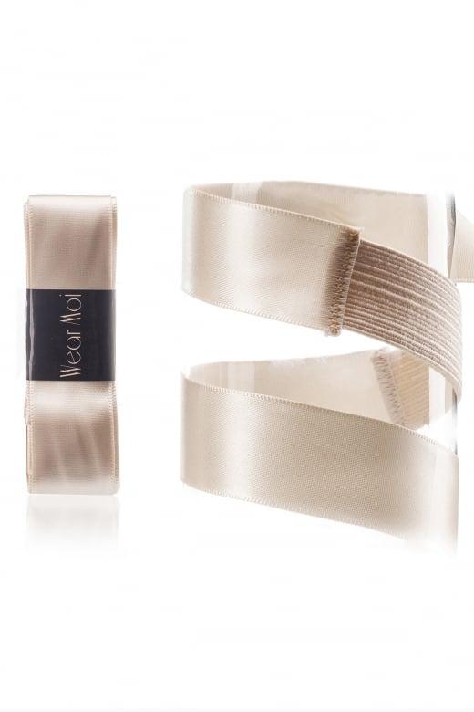 Wear Moi Bereits vorgeschnittenes Satin Spitzenschuh-Band mit Stretchmaterial